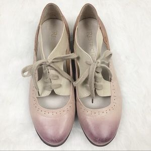 Restricted Ombre TriColor Leather Lace-up Oxford